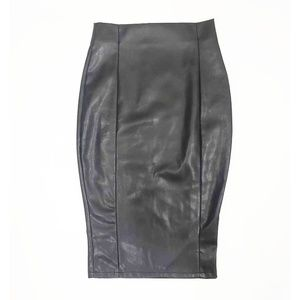 Asos Black Faux Leather Pencil Skirt | Size: 2